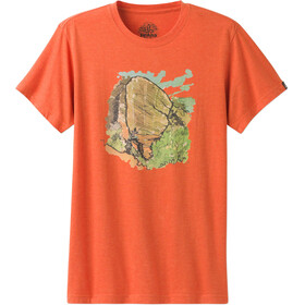 Prana Redlands Slim SS Shirt Men Orange Crush
